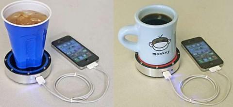 شارژ موبایل با Epiphany onE Puck از نوشیدنی