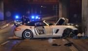 تصاویری از تصادف بنز SLS