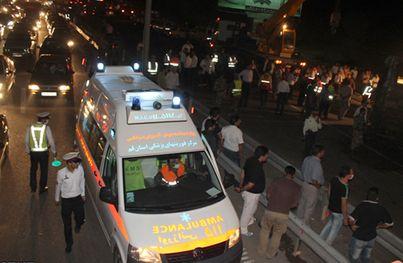 تصاویر ۸۸ کشته و زخمی در حادثه تصادف آزادراه قم – تهران