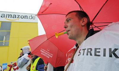 """کارکنان شرکت آمازون"""" آمریکا در آلمان اعتصاب کردند"""