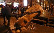 بار دیگر حمله افراد ناشناس به مجسمه لنین اوکراین