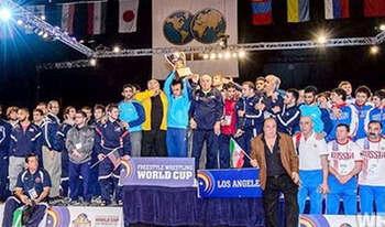 """تصاویر """" اهدا جوایز کشتی آزاد ایران در جام جهانی آمریکا """""""