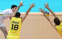 پیروزی تیم والیبال ایران