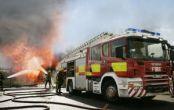 یک دستگاه اتوبوس اسکانیا در خرم آباد آتش گرفت
