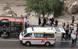کشته و مجروح تصادف اتوبوس و مینی بوس