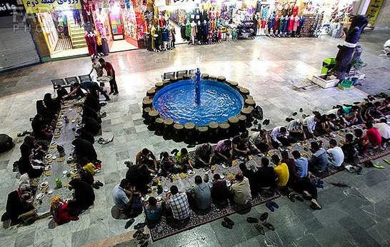 افاطاری در بازار مشهد