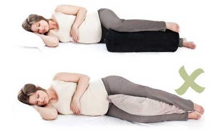 روش صحیح خابیدن در دوره بارداری / خانم باردار
