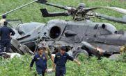 کشته شدن ۷ نظامی در سقوط بالگرد هندی