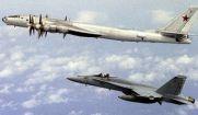شناسایی بمب افکن روسیه در آسمان انگلیس