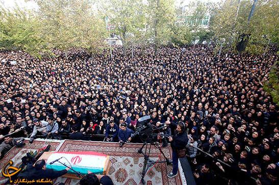 تشییع پیکر مرتضی پاشایی