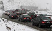 هواشناسی / بارش برف و ترافیک سنگین محور کرج – چالوس