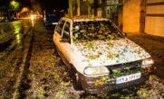 عکس / بارش شدید تگرگ در تهران به اندازه توپ پینگ پنگ