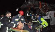 تصادف اتوبوس با کامیون در محور شاهرود با ۴۴ مصدوم