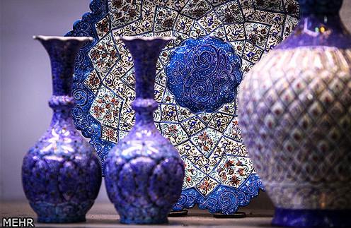 مراحل ساخت ظروف میناکاری در اصفهان + عکس