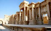 تصاویری از داعش در حال بمب گذاری شهر تاریخی پالمیرا