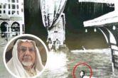 عکس / مردی که با شنا کعبه را طواف کرد!