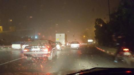 طوفان تهران و کرج را در خاک فرو برد + عکس