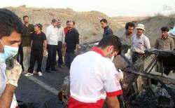 سوختن پراید در آتش محور همدان