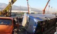 تصادف اتوبوس و کامیون در شاهرود / ۳۴ مجروح