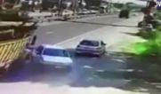 فیلم / تصادف کامیون با خودرو ۲۰۶ مربی تیم ملی کاراته بانوان