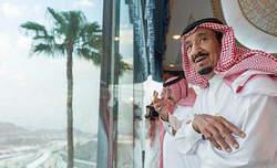 پادشاه عربستان در پی حادثه مناء