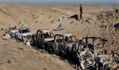 بمباران خودرو و محل نشست ابوبکر بغدادی (سرکرده داعش)