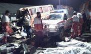 تصادف کامیون با اتوبوس در قم / ۳۰ کشته و زخمی