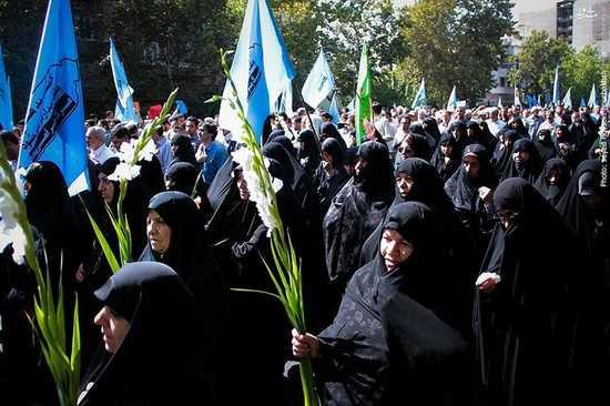 تصاویر مراسم «تشییع پیکر جانباختگان ایرانی» حادثه منا + عکس