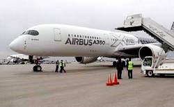 تصاویر فرود هواپیمای ایرباس A350 فرانسه در مهرآباد