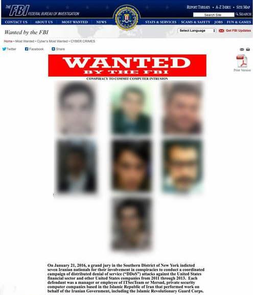 واکنش وزارت خارجه / 7 ایرانی متهم به حملات سایبری