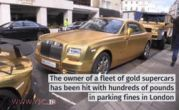 فیلم و عکس / شاهزاده سعودی و خودروهای طلا در انگلیس