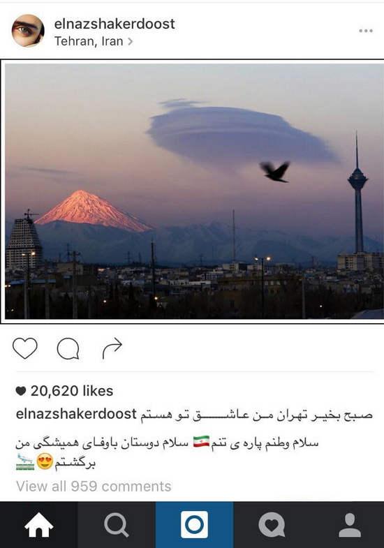 الناز شاکردوست خوشحال از بازگشتش به ایران + عکس