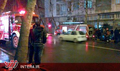 عکس / آتش سوزی در لاهیجان و حضور بموقع آتش نشانی