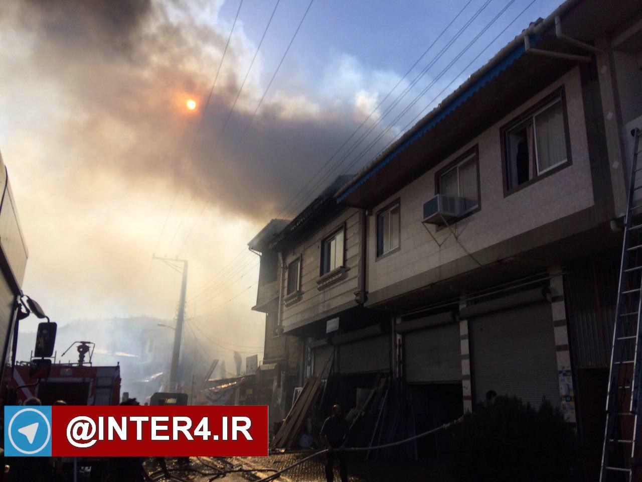 تصاویر آتش سوزی منطقه یوسف آباد لاهیجان